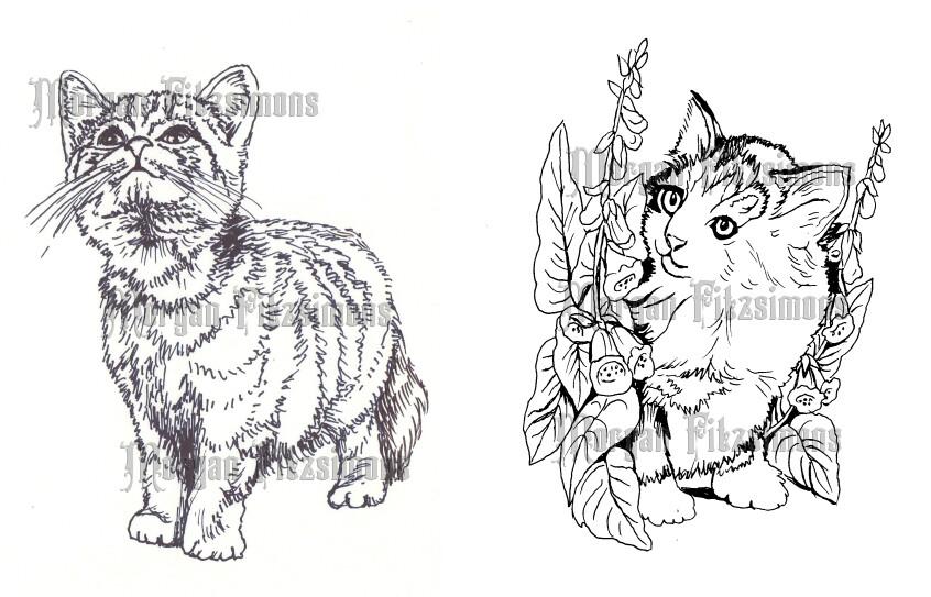 Kittens - Digital Stamp