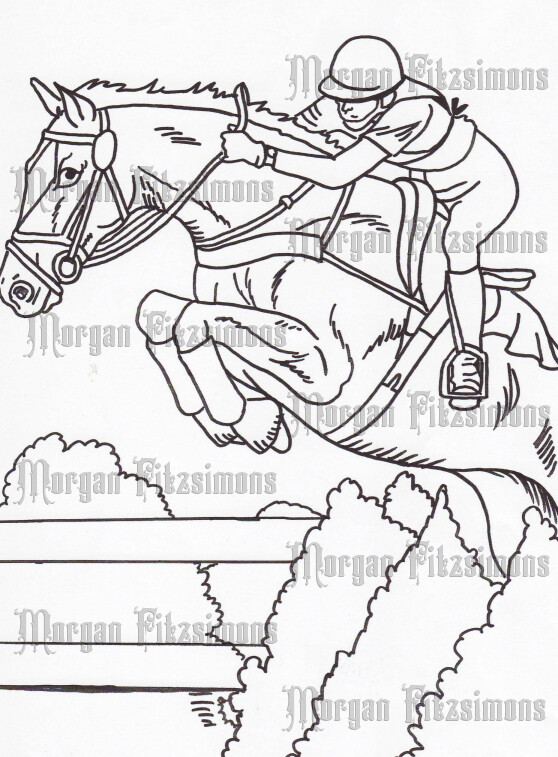 Story Talk Horse Riders 5 - Digital Stamp