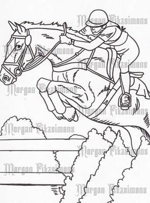 Story Talk Horse Riders 5 - Digital Stamp