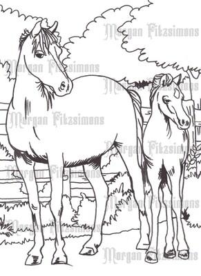 Story Talk Horse Riders 6 - Digital Stamp