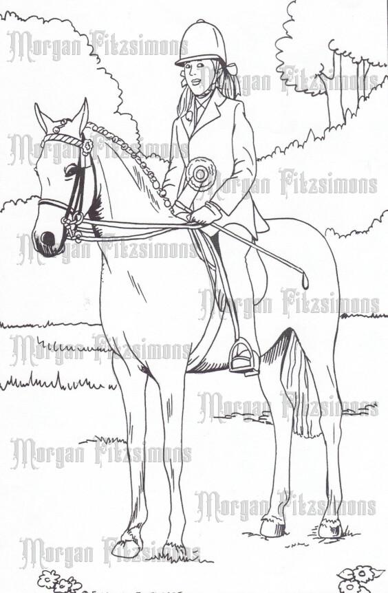 Story Talk Horse Riders 3 - Digital Stamp