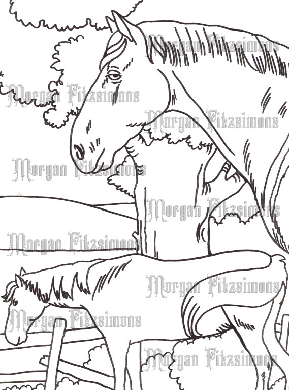 Story Talk Horse Riders 7 - Digital Stamp