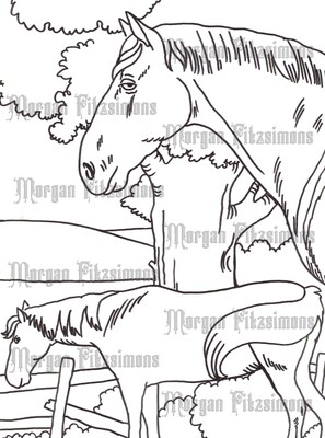 Story Talk Horse Riders 7 - Digital Stamp