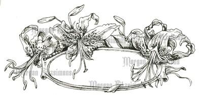 Flower Tag 5 - Digital Stamp