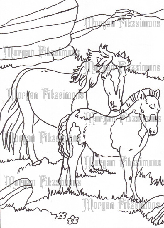 Story Talk Horse Riders 8 - Digital Stamp