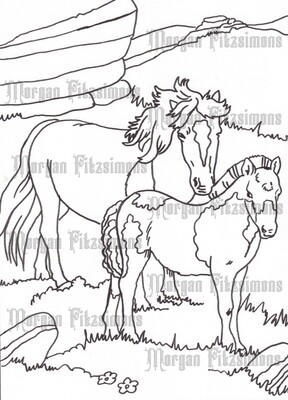 Story Talk Horse Riders 8 - Digital Stamp