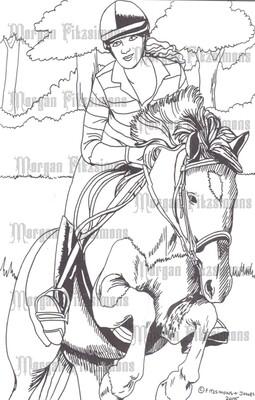 Story Talk Horse Riders 9 - Digital Stamp