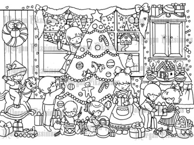Christmas Scene - Digital Stamp
