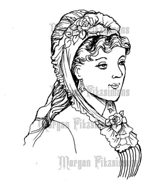 1920 Bonnet - Digital Stamp