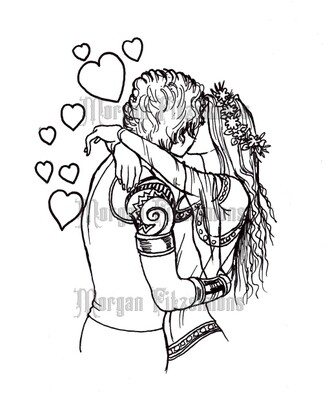 Be My Valentine - Digital Stamp