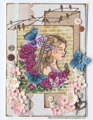Fairy Child 1 - Digital Stamp