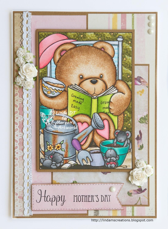 Growing Teddy 1 - Digital Stamp