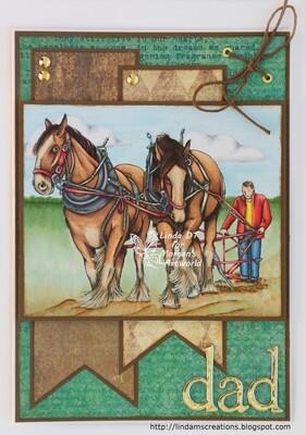 Shire Horses - Digital Stamp