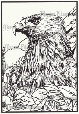Eagle 1 - Digital Stamp