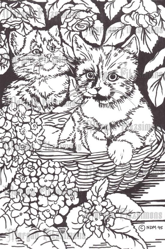 Cats 1 - Digital Stamp