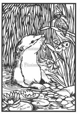 Otter - Digital Stamp