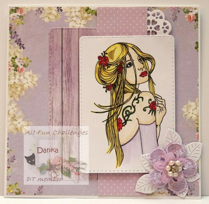Bella Cameo 3 - Digital Stamp