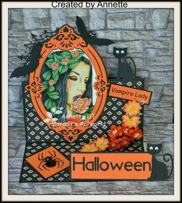 Vampire Lady - Digital Stamp