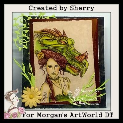 Fantasy Fae and Dragon 2 - Digital Stamp