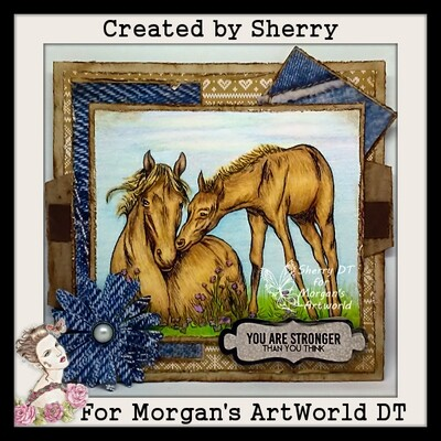 New Life Mum and Foal Horse - Digital Stamp