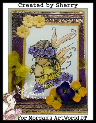 Fairy Child Forget Me Not - Digital Stamp