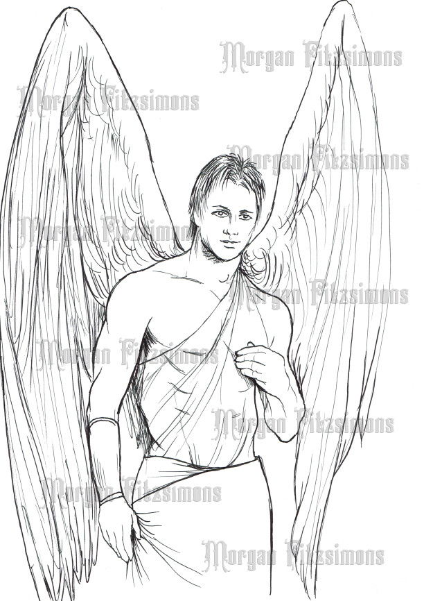 Angel 3 - Digital Stamp