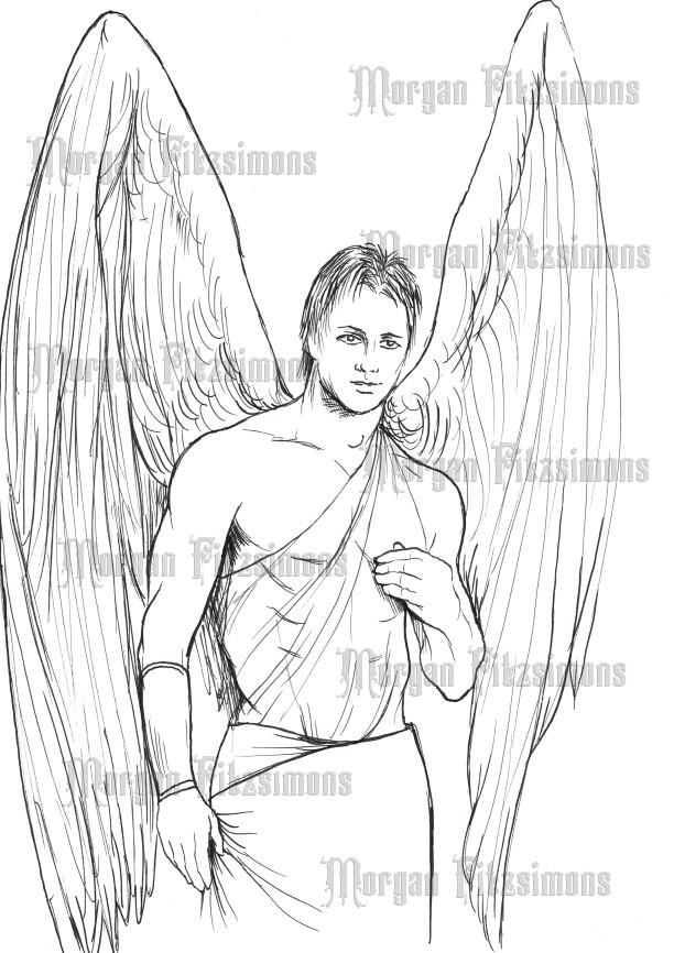 Angel 3 - Digital Stamp