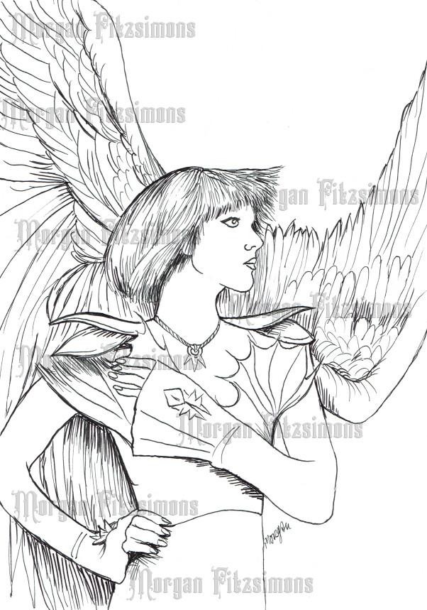 Angel 5 - Digital Stamp