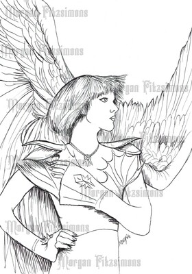 Angel 5 - Digital Stamp