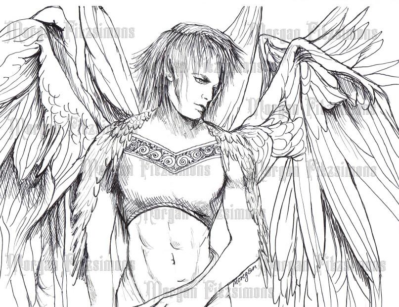 Angel 8 - Digital Stamp