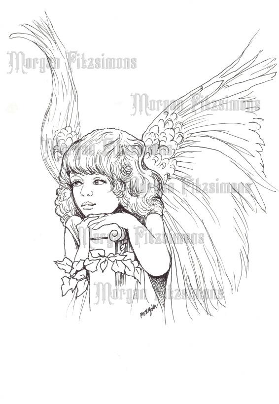 Little Angel 1 - Digital Stamp