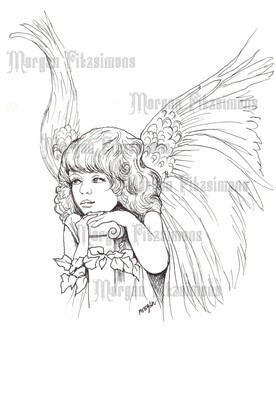 Little Angel 1 - Digital Stamp