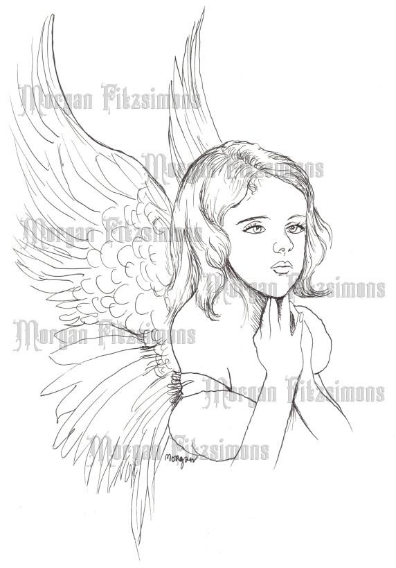 Little Angel 2 - Digital Stamp