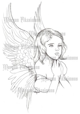 Little Angel 2 - Digital Stamp