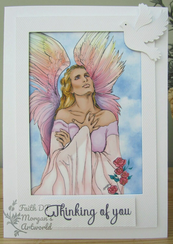 Angel 7 - Digital Stamp