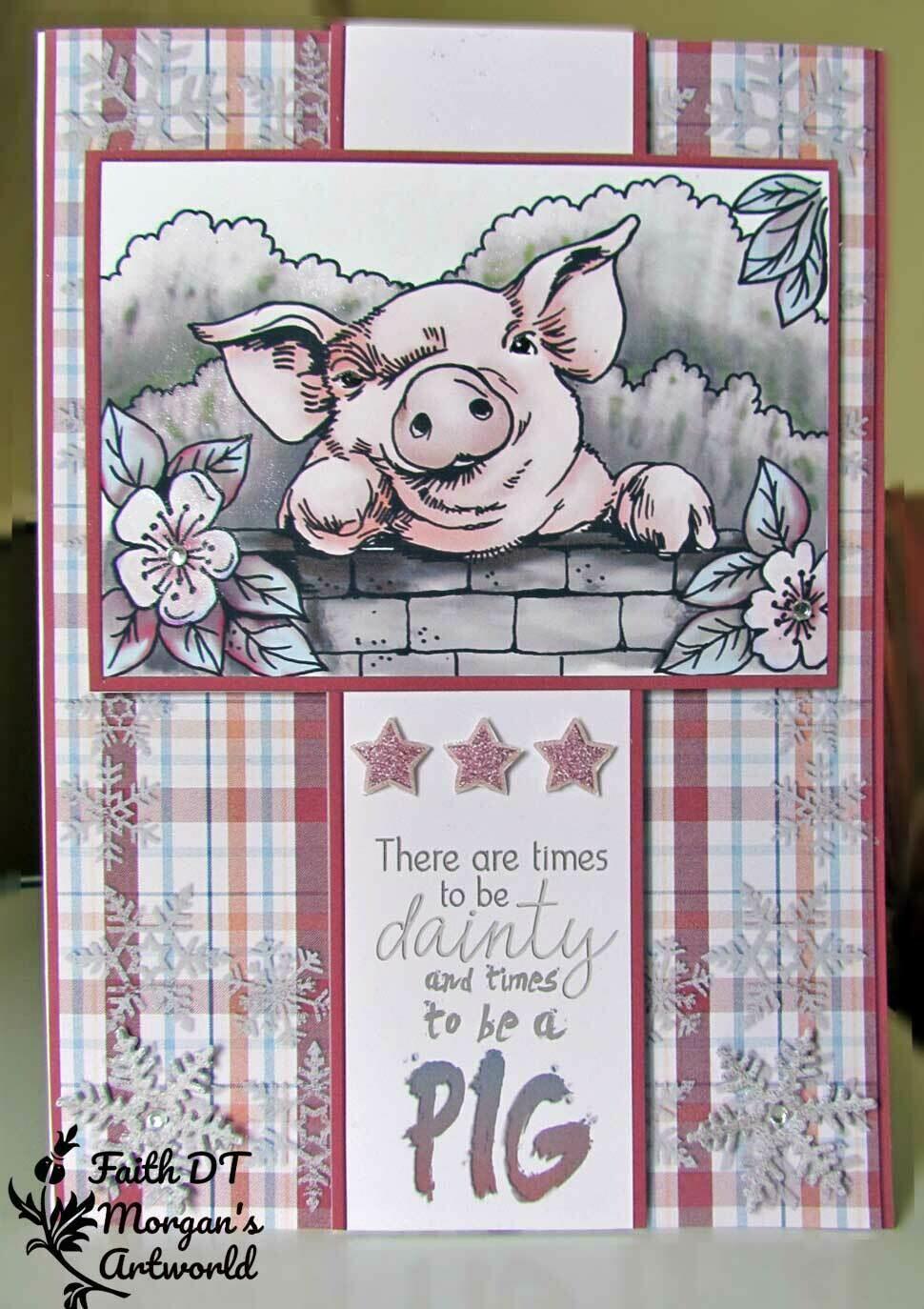 Pigs 1 - Digital Stamp