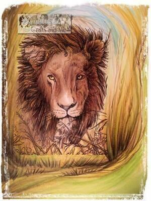 Lion - Digital Stamp