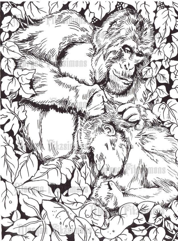 Gorilla Love - Digital Stamp