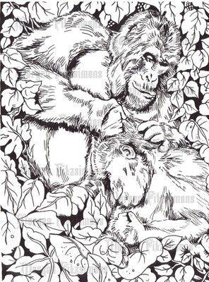 Gorilla Love - Digital Stamp
