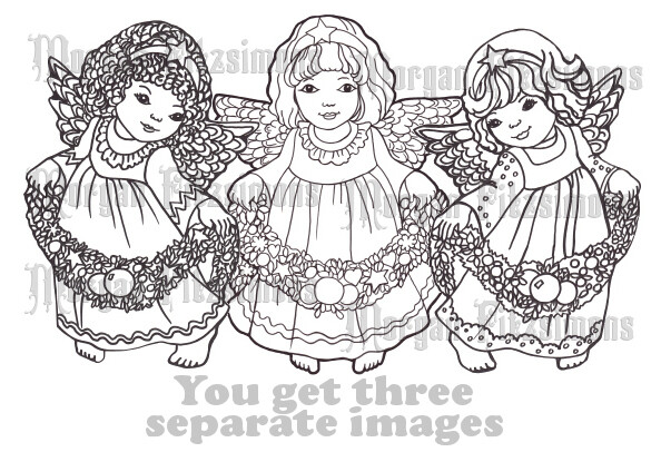 Christmas Angels Bundle - Digital Stamp