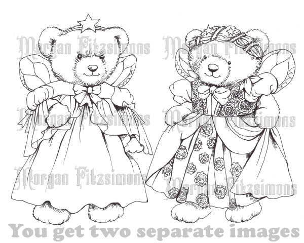 Teddy Angels Bundle - Digital Stamp