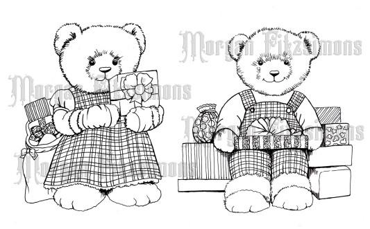 Xmas Teddy Bundle - Digital Stamp