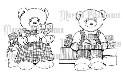 Xmas Teddy Bundle - Digital Stamp
