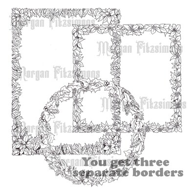Xmas Borders Bundle - Digital Stamp