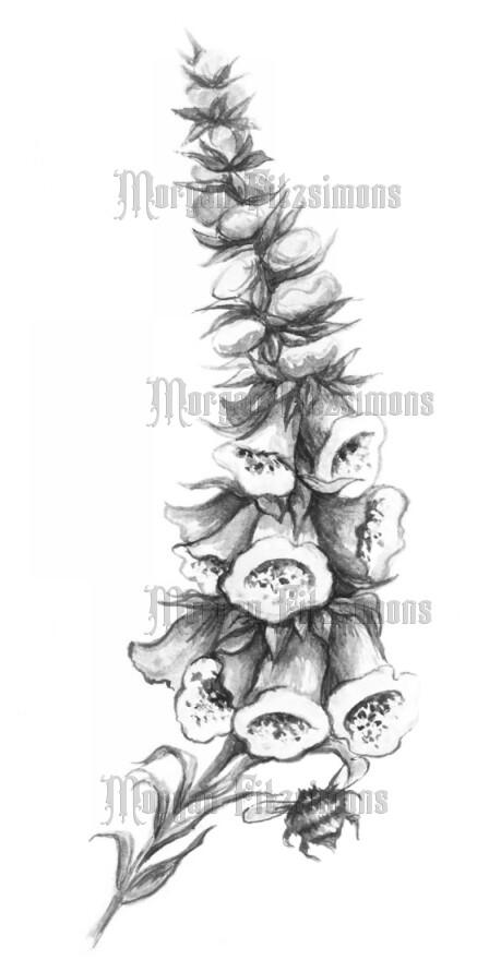 Flower 2 Greyscale - Digital Stamp