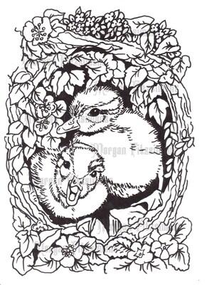 Ducklings - Digital Stamp