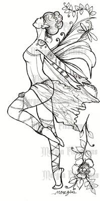 Ballerina Fairy - Digital Stamp