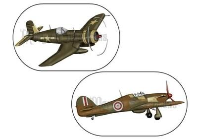 Planes Pre-Coloured - Digital Stamps
