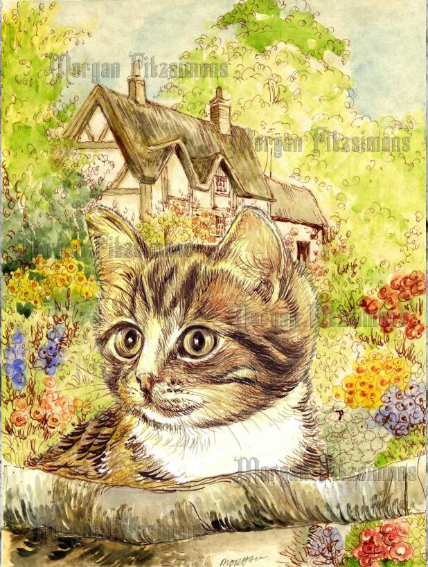 Kitten 3 Pre-Coloured - Digital Stamps