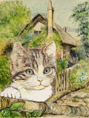 Kitten 4 Pre-Coloured - Digital Stamps